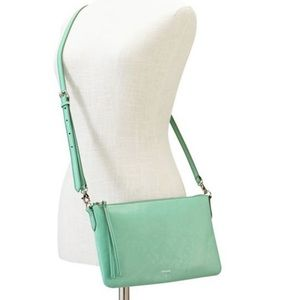 Fossil Syndey Top Zip Mint Crossbody Bag